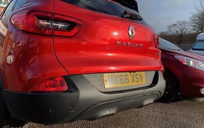OEM Style Rear Parking Sensors Fitted To Rear Of Vehicle (Not Painted)